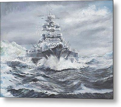 Bismarck Off Greenland Coast  Metal Print by Vincent Alexander Booth