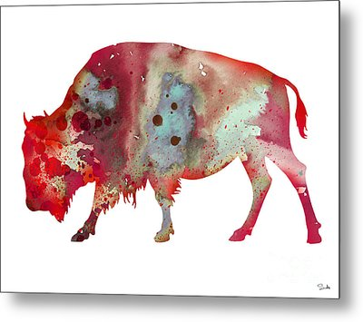 Bison Metal Print by Luke and Slavi