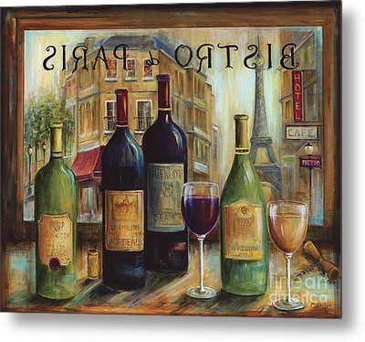 Bistro De Paris Metal Print by Marilyn Dunlap