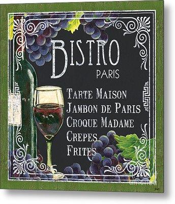 Bistro Paris Metal Print by Debbie DeWitt