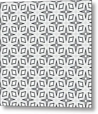 Black And White Designs Metal Print by Savvycreative Designs
