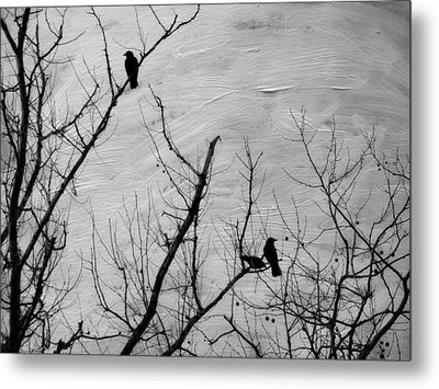 Black Birds Metal Print by Kathy Jennings