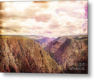Black Canyon Colorado Metal Print by Janice Rae Pariza