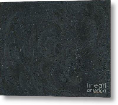 Black Color Of Energy Metal Print by Ania M Milo