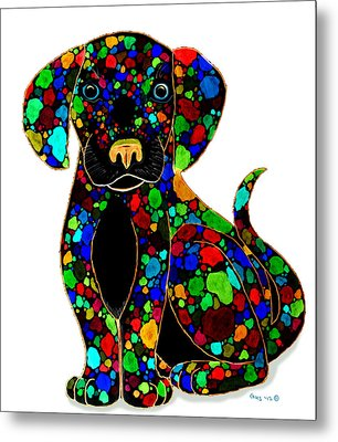 Black Dog 2 Metal Print by Nick Gustafson