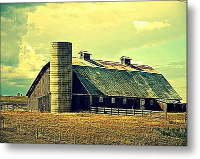 Black Forest Road Barn Metal Print by Antonia Citrino