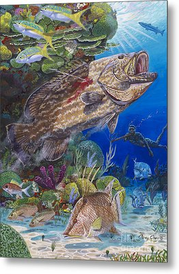 Black Grouper Hole Metal Print by Carey Chen