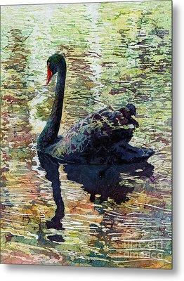 Black Swan Metal Print by Hailey E Herrera
