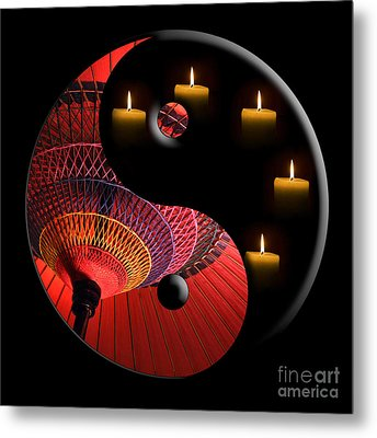 Black Tao Metal Print by Delphimages Photo Creations
