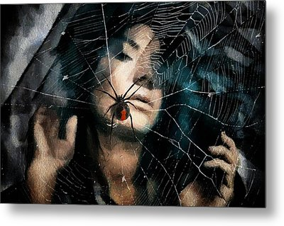 Black Widow Metal Print by Gun Legler