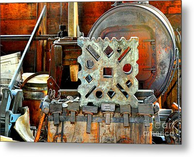 Blacksmith Blues Metal Print by Lauren Leigh Hunter Fine Art Photography