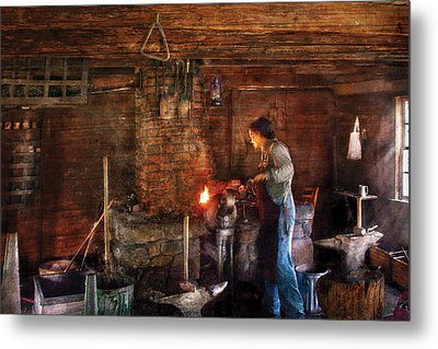Blacksmith - Cooking With The Smith's  Metal Print by Mike Savad