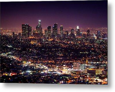 Los Angeles Skyline Metal Print by Alexis Birkill