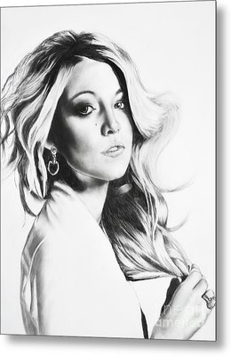 Blake Lively Metal Print by Michael Durocher