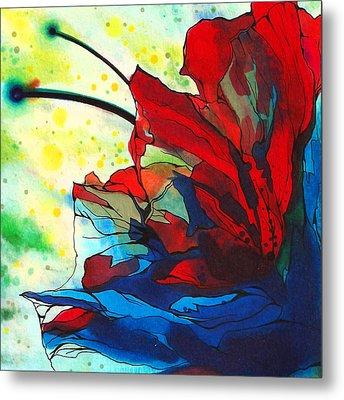 Bleeding Flower Metal Print by Andrea Carroll