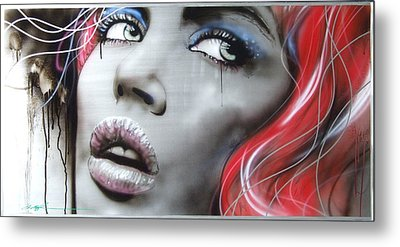 'bleeding Rose' Metal Print by Christian Chapman Art