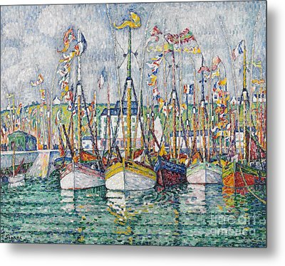 Blessing Of The Tuna Fleet At Groix Metal Print by Paul Signac