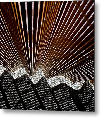 Blind Shadows Abstract I I I Metal Print by Kirsten Giving