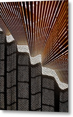 Blind Shadows Abstract I Metal Print by Kirsten Giving