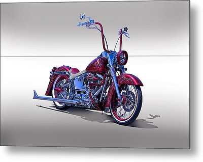 Bling Bling Studio Bike Metal Print by Dave Koontz