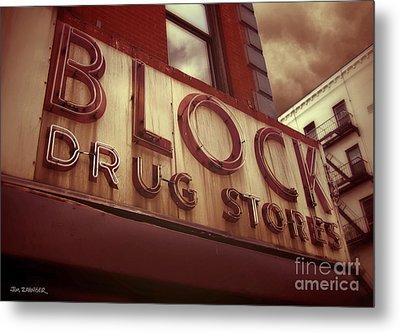 Block Drug Store - New York Metal Print by Jim Zahniser
