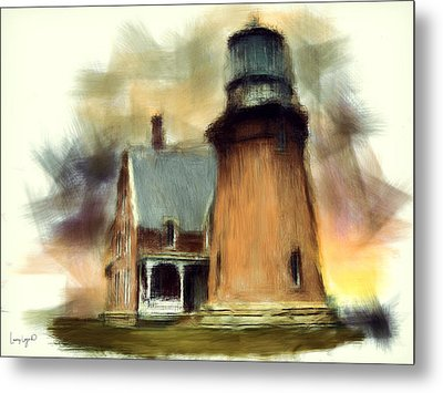 Block Island Light Metal Print by Lourry Legarde