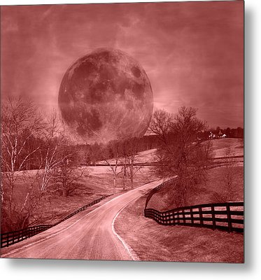 Blood Moon One Of Two Metal Print by Betsy C Knapp