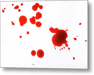 Blood Spatter Metal Print by Cordelia Molloy