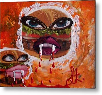 Bloody Meat Metal Print by Lisa Piper Menkin Stegeman