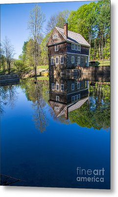 Blow Me Down Mill Cornish New Hampshire Metal Print by Edward Fielding