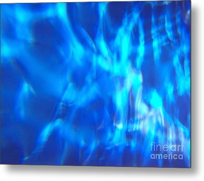 Blue Abstract 2 Metal Print by Tony Cordoza