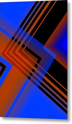 Blue And Brown Combination Metal Print by Mario Perez