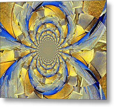 Blue And Gold Metal Print by Marty Koch
