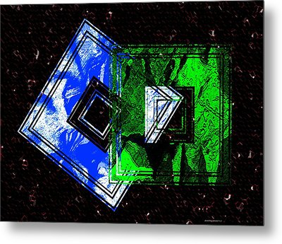 Blue And Green Combination Metal Print by Mario Perez