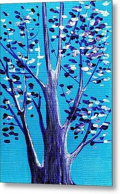 Blue And White Metal Print by Anastasiya Malakhova