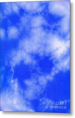 Blue Batik Pattern  Metal Print by Kerstin Ivarsson