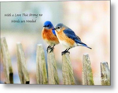 Blue Bird Love Notes Metal Print by Scott Pellegrin