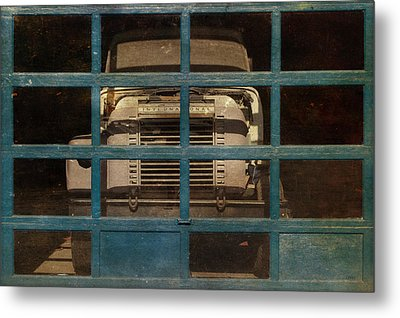 Blue Cage Metal Print by Jeff  Gettis