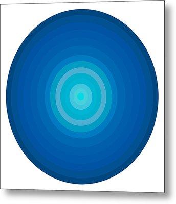 Blue Circles Metal Print by Frank Tschakert