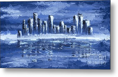 Blue City Metal Print by Svetlana Sewell