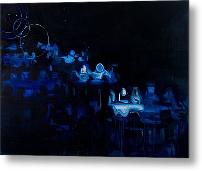 Blue Dining Room Metal Print by Susie Hamilton