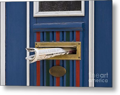Blue Door Metal Print by Heiko Koehrer-Wagner