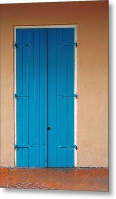 Blue Door In New Orleans Metal Print by Christine Till