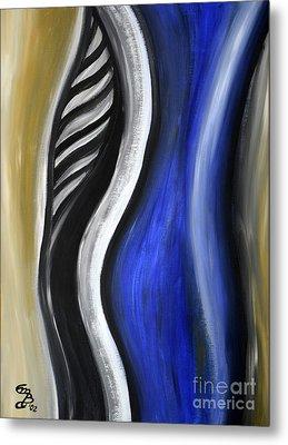 Blue Figure Metal Print by Eva-Maria Becker
