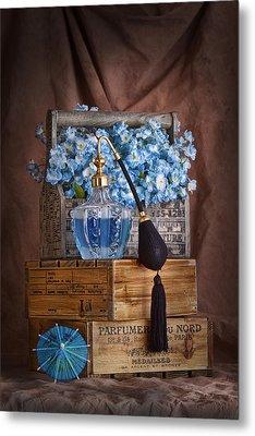 Blue Flower Still Life Metal Print by Tom Mc Nemar