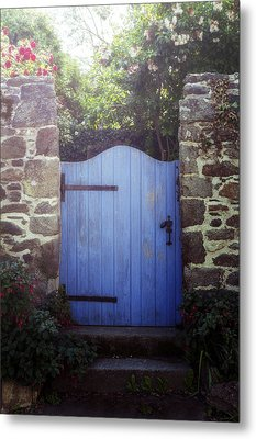 Blue Gate Metal Print by Joana Kruse