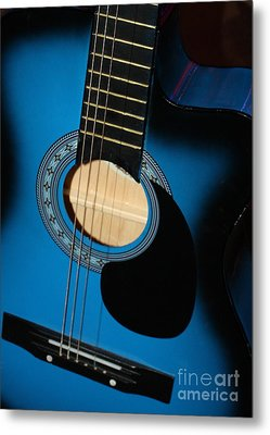 Blue Guitar Metal Print by Carol Groenen