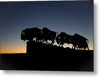 Blue Hour At Caprock Canyons State Park Metal Print by Melany Sarafis