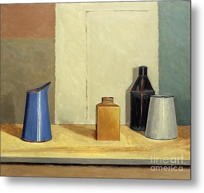 Blue Jug Alone Metal Print by William Packer