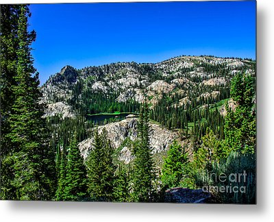 Blue Lake Metal Print by Robert Bales